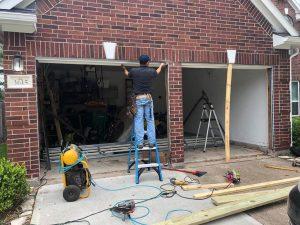 2 Garage Doors to 1 Conversion Houston
